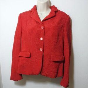 Armani Collezioni Antinea Srl Womens Red Blazer